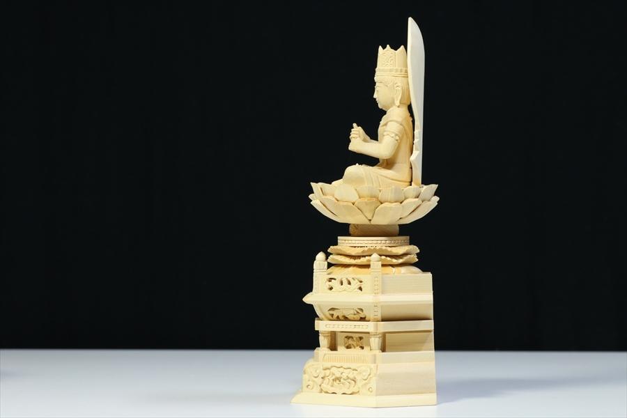仏像■1.5寸■大日如来像 六角台座 白木 真言宗 ご本尊■仏具